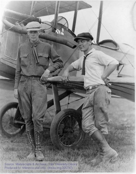 Charles A. Lindbergh with Bud Gurney in St. Louis