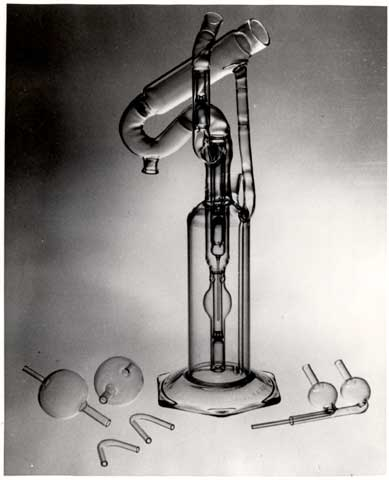 View of the perfusion pump, a device designed to keep organs alive, invented by Charles A. Lindbergh.