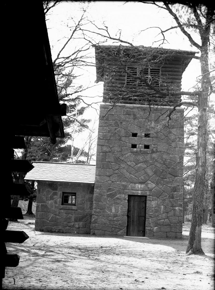 Water tower built by the WPA in Lindbergh State Park.