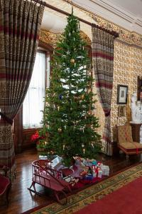The Victorian Christmas tree in the parlor