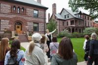 Summit Avenue tour in front of 318 Summit (Cass Gilbert, architect)
