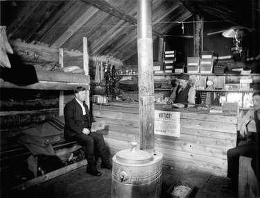 Camp office and store interior.
