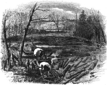 Wanigans on the Rum River, 1864.