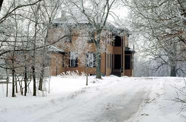 The Kelley Farmhouse in winter. Everything is quiet on the farm.