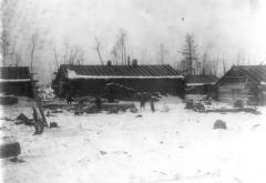 Conner's Camp, two miles north of Hibbing, Feb 1901.
